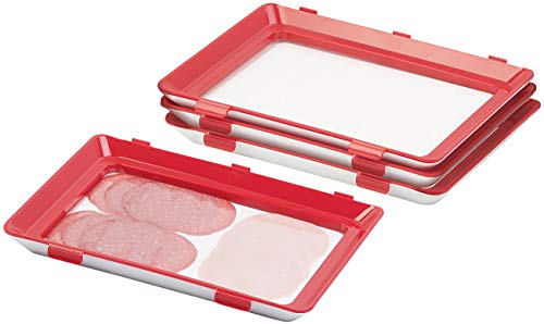 Rosenstein & Söhne Aufschnittdosen: 4er-Set Frischhaltedosen für Wurst- und Käse-Aufschnitt (Aufschnittbox)