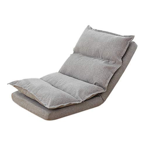 PLHMS Verstellbare Boden Stuhl mit Rückenstütze, Klappboden Lazyboy Sofa Lounge-Kissen-Stuhl Recliner Tatami, für Boden Gaming TV für Erwachsene Kinder,B
