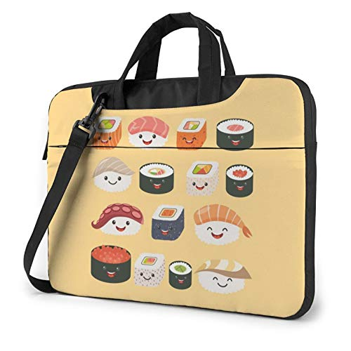 Many Sushi Food Laptop Bag Laptop Shoulder Bag Notebook Computer Case Sleeve For 14 inch
