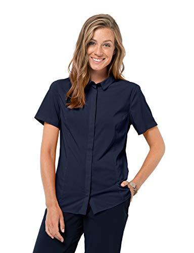 Jack Wolfskin Damen JWP Shirt W Schnelltrocknendes Outdoor Hemd Kurzarm, Night Blue, M