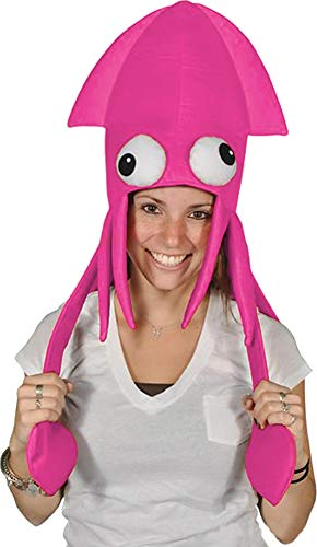 Novelty Pink Squid Octopus Hat Costume Party Hat Cap