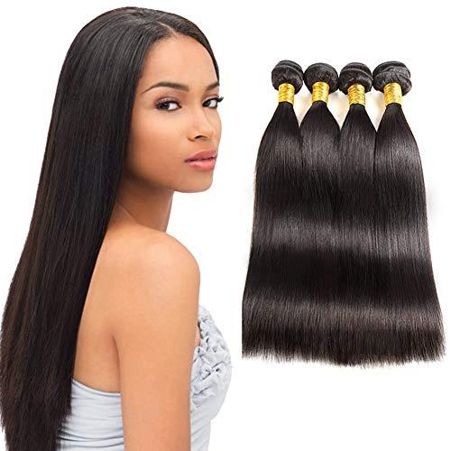 Huarisi 4 Bündel von brasilianischen gerades Haare 22 24 26 28 zoll Straight Hair lange jungfrau Haare webart verlängerungen 400g natürliche menschliches Haare