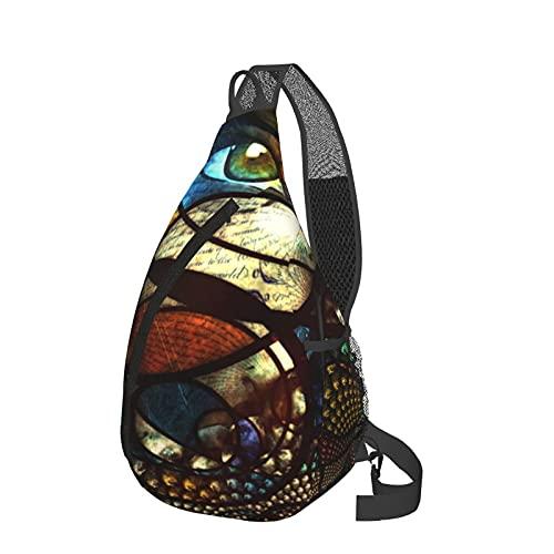 Mochila de viaje senderismo Daypack 3D gráfico impreso Crossbody bolso de hombro, color Rosa, talla Talla única