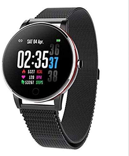 Reloj inteligente Ip68 impermeable Monitor de ritmo cardíaco presión arterial Fitness Tracker Monitor de sueño Podómetro Bluetooth Smartwatch Hombres para Iphone Android-B