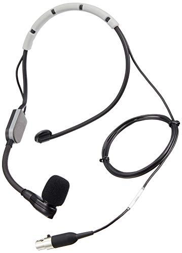Shure SM35-XLR Performance Headset-Kondensatormikrofon, inkl. Windschutz mit Snap-Fit Halterung und Inline-XLR-Vorverstärker