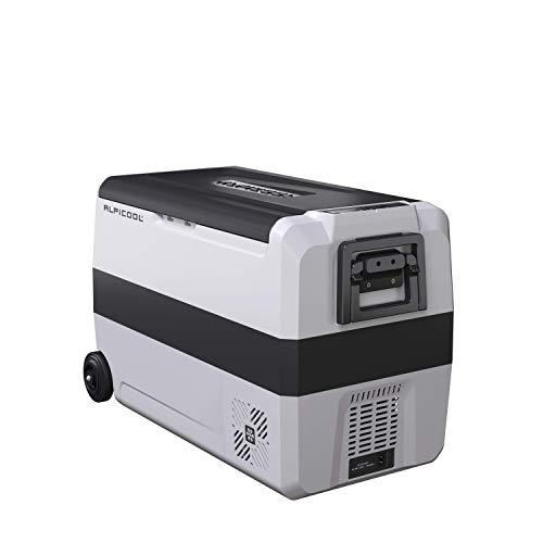Alpicool Dual Temperature Control T50 Portable Refrigerator 53 Quart(50 Liter) Compact Fridge Mini Freezer for Travel,Camping,Fishing, Outdoor-12/24V DC