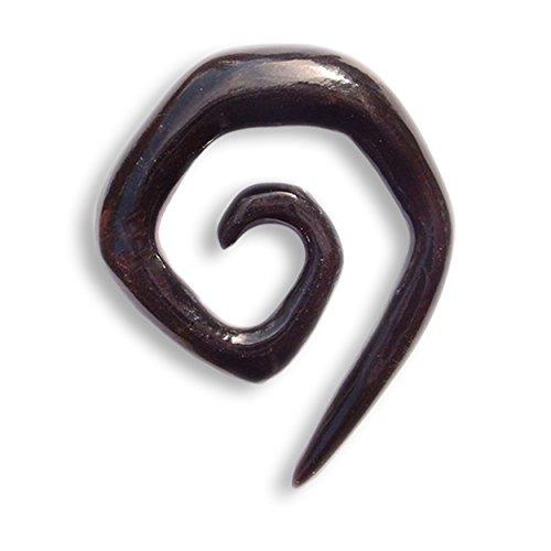 Island Piercings PAAR Dehnungsspirale Spirale Sichel Horn 10mm