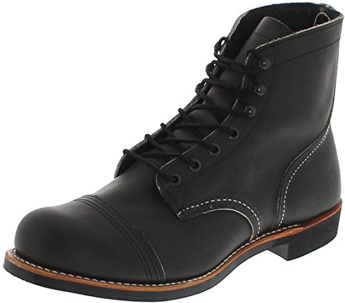 Red Wing Shoes 8086 Iron Ranger Charcoal Herren Schnürstiefel Grau Work Boots Chukka Boots, Groesse:45 (11.5 US)