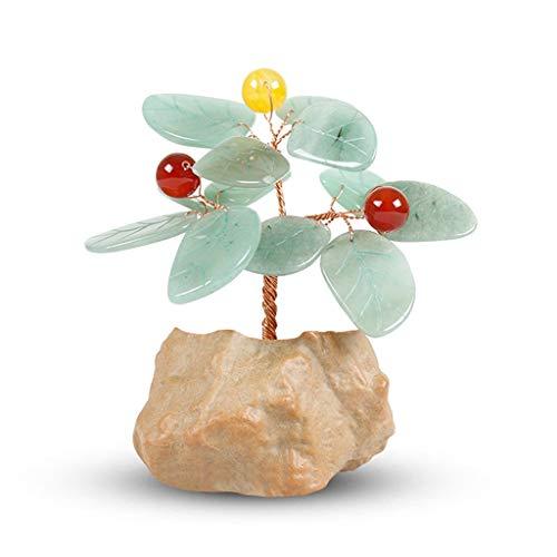 Ornamento de Escritorio Cristal Decoración del árbol en maceta de piedra cristalina del Ministerio del Interior Decoración Artesanía regalo de cumpleaños de la Fortuna Bonsai árbol del dinero for la b