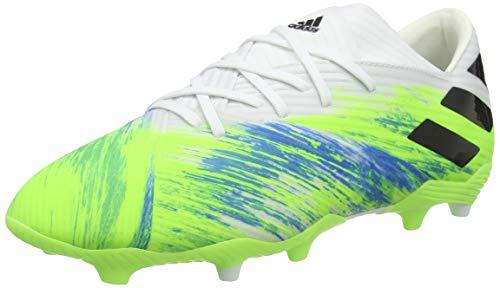 adidas Nemeziz 19.2 Fg, Scarpe da Calcio Uomo, Ftwr White/Core Black/Signal Green, 43 1/3 EU