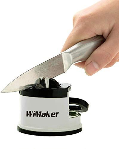 WiMaker Home - Afilador Esencial para Cuchillos de Cocina, Mini afilador de Cuchillos Gris