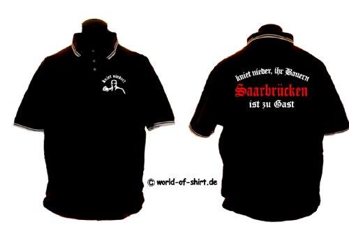 world-of-shirt Herren Polo Shirt Saarbrücken Ultras kniet nieder