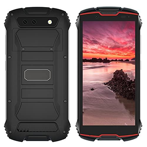 SZGR Teléfono Escarpado 4'qhd + Pantalla A Prueba De Agua 4g LTE Dual-sim Android 10 3gb + 32gb 13mp Cámara Mini Teléfono ID De Cara,Red Black