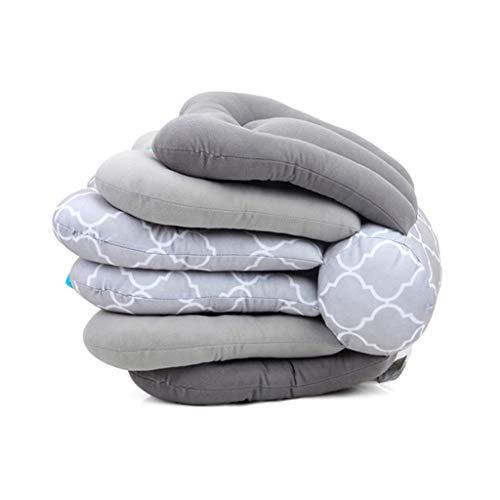 VIccoo Stillkissen, Einstellbares Stillkissen Stillen Stillen Baby Support Mode Kissen - Grau