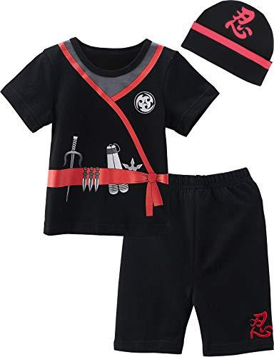 MOMBEBE COSLAND Conjunto de Camiseta Disfraz Bebé Niños Manga Corta con Gorro Algodón