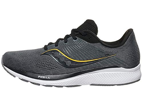 Saucony Men's Guide 14, Charcoal/Gold, 12 Wide