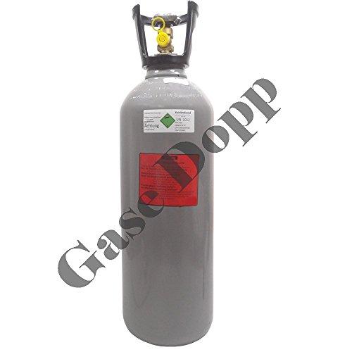 10 kg CO2 Steigrohr Flasche gefüllt mit Lebensmittel Kohlendioxid / Kohlensäure - Fabrikneue Eigentumsflasche von Gase Dopp
