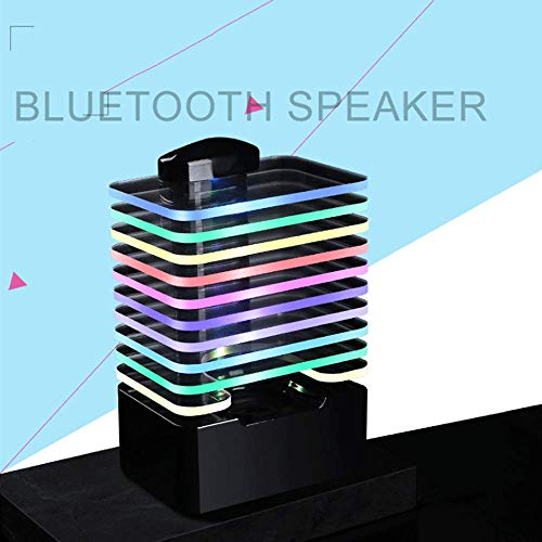 For Sale! LED Bluetooth Speaker w/Pulsating Lamp, 7 Colorful Lights TF Card Sounds Wireless Color Ch...