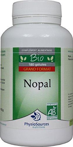 PhysioSources - NOPAL BIO - Complément alimentaire - 180 gélules - 92 g