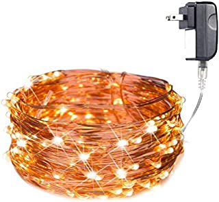 LED Fairy String Lights 120 LED 40ft Micro Starry String Lights Waterproof Christmas on a Flexible Ultra Thin Copper Wire UL Listed for Indoor/Outdoor, Patio, Backyard, Wedding, Bedroom, Warm White