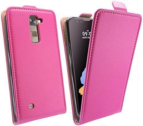 ENERGMiX Handytasche Flip Style kompatibel mit LG Stylus 2 (K520) in Pink Klapptasche Hülle Tasche Case Etui Schale Flip-Cover