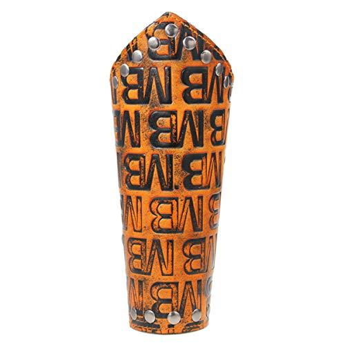 Steampunk - Pulsera retro, brazalete de cuero, brazalete, guerrero arquero, remache, guantelete, disfraz de cosplay, protector de brazo con remache personalizado decoración impresión letras MB