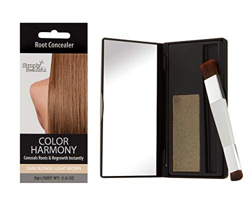 Color Harmony Retouch-Ansatzpuder: Verbirgt graue, dunkle Haare am Ansatz, wasserbeständiger Haarpuder; Nicht klebriger, einfach anzuwendender & sauberer Concealer zur Haartönung (Dunkelblond/Braun)