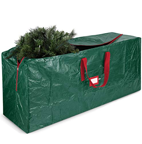 Jumbo Christmas Tree Storage Bag - Fits 9 ft. Tall Christmas Trees - Durable Reinforced Carry Handles, Dual Zippered Storage Containers - Waterproof Xmas Tree Bag Protects from Dust, Moisture & Insect