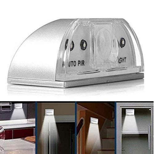 Keyhole Light Lamp PIR Infrarouge Détecteur de mouvement Détecteur de mouvement porte automatique Keyhole avec 4 ampoules à LED Lampe Stick-on n'importe où robinet allume LED Night Light