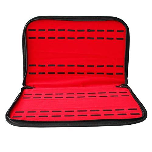 Hemobllo Watch Bag Box Organizer Lederband Uhr Top Uhrenarmband Display mit 20 Position Uhr für Uhrenschmuck (rot und schwarz)
