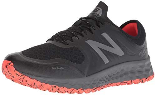 New Balance Men's Kaymin V1 Fresh Foam Trail Running Shoe, Black/Flame/Reflective, 7 4E US