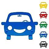 DEKOKRAFT ® HAPPY CAR [Einführungspreis] - Dekorative Kindergarderobe Farbenfroh und Stabil - Garderobe mit Kinder Auto Motiv - Garderoben Haken für Kinderzimmer - Kindergarderoben mit Kleiderhaken