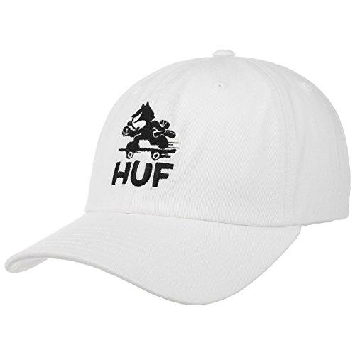 HUF Gorra Skate Felix Strapback de Beisbol (Talla única - Blanco)