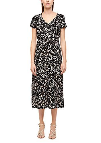 s.Oliver BLACK LABEL Damen 150.12.007.20.200.2040634 Lässiges Kleid, Mixed Dots Print, 38