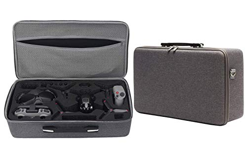 Honbobo Koffer für DJI FPV Combo, FPV-Drohne und Zubehör Tragbare Tragetasche Aufbewahrungstasche Box Wasserdichte Hartschalentasche Drohne Fall(grau)
