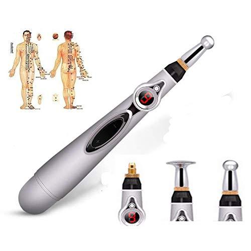 Rotulador de acupuntura electrónico, Meridiano, máquina de acupuntura eléctrica, terapia de campo magnético, barra de energía, dispositivo de masaje para aliviar el dolor