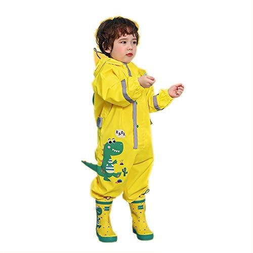 D C.Supernice Chubasquero impermeable todo en uno para niños pequeños, diseño de unicornio, dinosaurio, koala