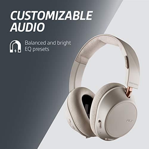 Plantronics BackBeat GO 810 - Casque sans fil à réduction de bruit circum-aural, blanc