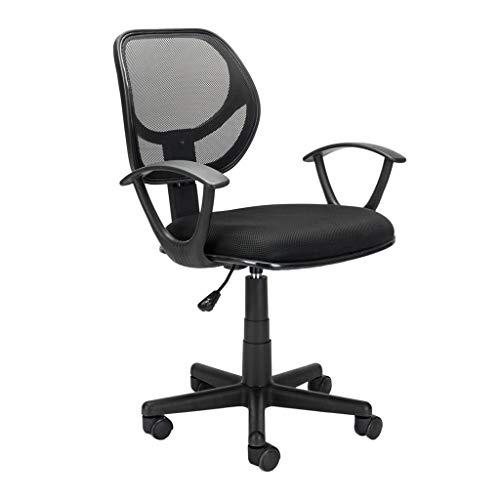 Ergonomic Swivel Chair Computer Chair Game Chair Executive Office Chair Home Office Room Use Nylon Five-Star Feet Mesh Chair Black