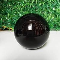 水晶球 自然な黒曜石の石のクリスタルボールの家の装飾ボールの占い師の円形の結晶の結婚式の写真の付属品 占い球 (Color : Ball, Size : 100mm diameter ball)