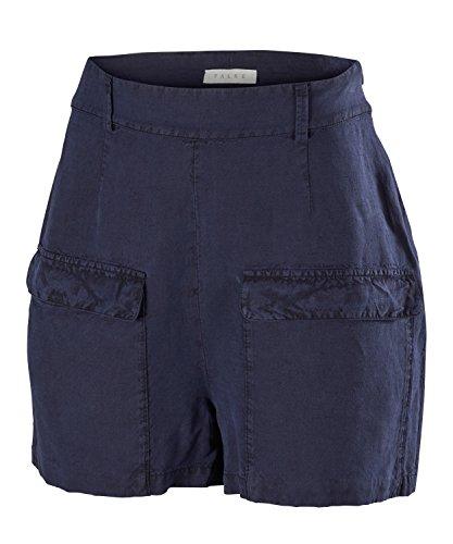 FALKE Damen Shorts Margherita, Leinen/Seide, 1 Stück, Blau (Dark Night 6177), Größe: 38