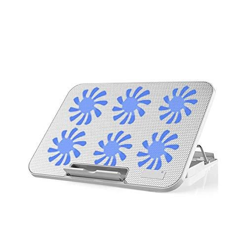 Sntsya Laptop Koeling Pad, Laptop Koeler Met 6 Rustige Fans Voor 12-17 Inch Laptop, Dubbele USB 2.0 Poorten, Draagbare Verstelbare Laptop Stand Voor Alle