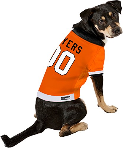 Pets First NHL Philadelphia Flyers A Premium Big Jersey for Dogs & Cats, Orange, XX-Large