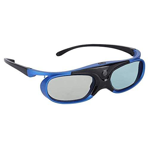 Yuyanshop 3D-Brille, universeller Aktivauslöser Typ DLP Link 3D-Projektorbrille HD-Linse entwickelt für Kurzsichtigkeit Anwendbare Modelle für Nuts/Sony/BenQ/Epson/Panasonic