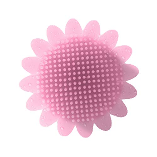 Minkissy bébé brosse de lavage des cheveux brosse de nettoyage en silicone douche portable laveur pour enfants salle de bains masseur cheveux outil de soins du corps (rose)