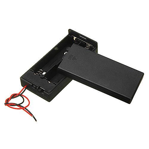 FEIYI Otro módulo de la placa de plástico titular de la batería de almacenamiento de la caja del contenedor w/interruptor ON/OFF para 2x18650 baterías 3.7V