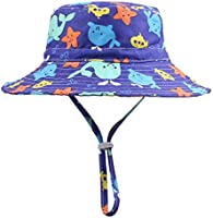 Peecabe Toddler Girl Sun Hat Breathable Beach Hat Adjustable Chin-Strap Hat 50+UPF