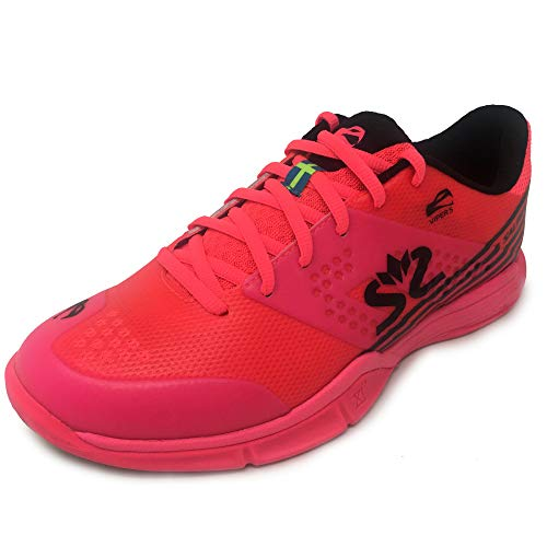 Salming Viper 5 Indoor Handballschuhe Hallenschuhe pink/schwarz 1239075-5101 Aktuelle Kollektion 2019, Schuhgröße:40 2/3 EU