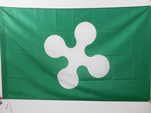 AZ FLAG Bandiera Lombardia 90x60cm - Bandiera LOMBARDA - REGIONE Italia 60 x 90 cm Foro per Asta
