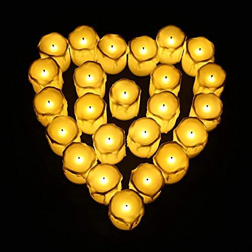 Velas realistas sin Llama operadas con candelita LED pequeña con Llama eléctrica...